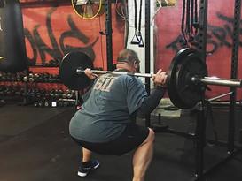 205lb  squat holds!  20 seconds X 4!  #b