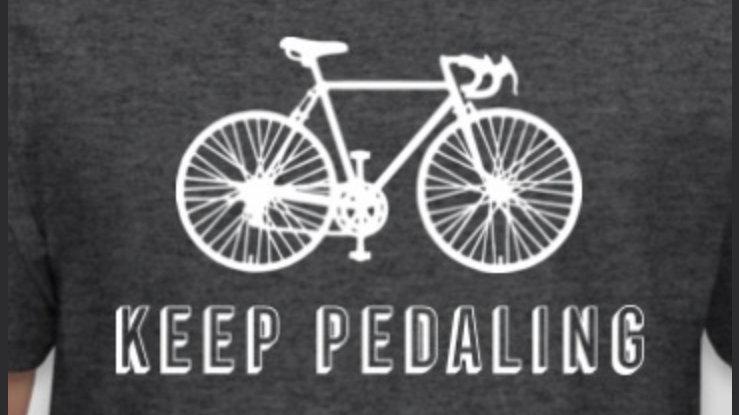 Keep Pedaling Jen!