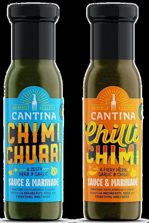 Cantina Original & Chilli Chimi Chimichurri Original Sauce and Marinade Combo