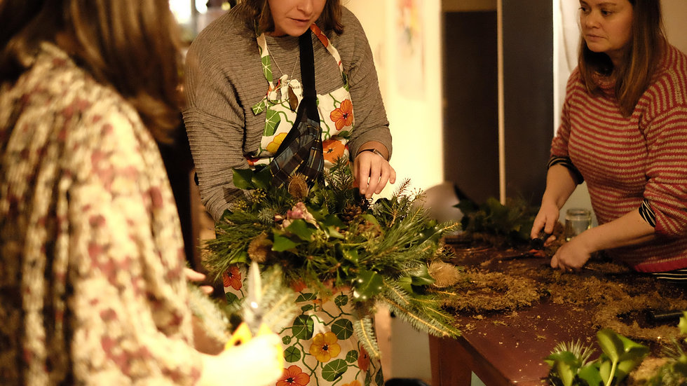 Zoom wreath making class - Based on 5 + person Private group