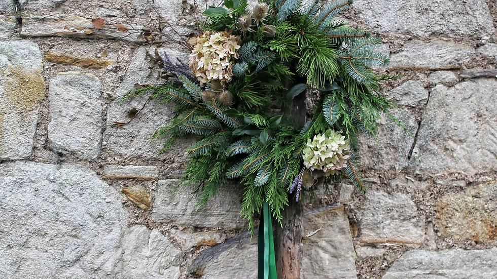 Festive Door Wreath - standard size