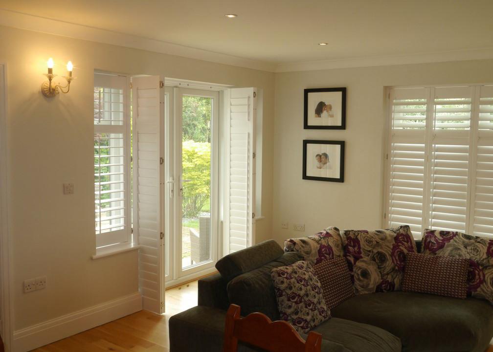 Living room shutters windsor shutters for B q living room doors