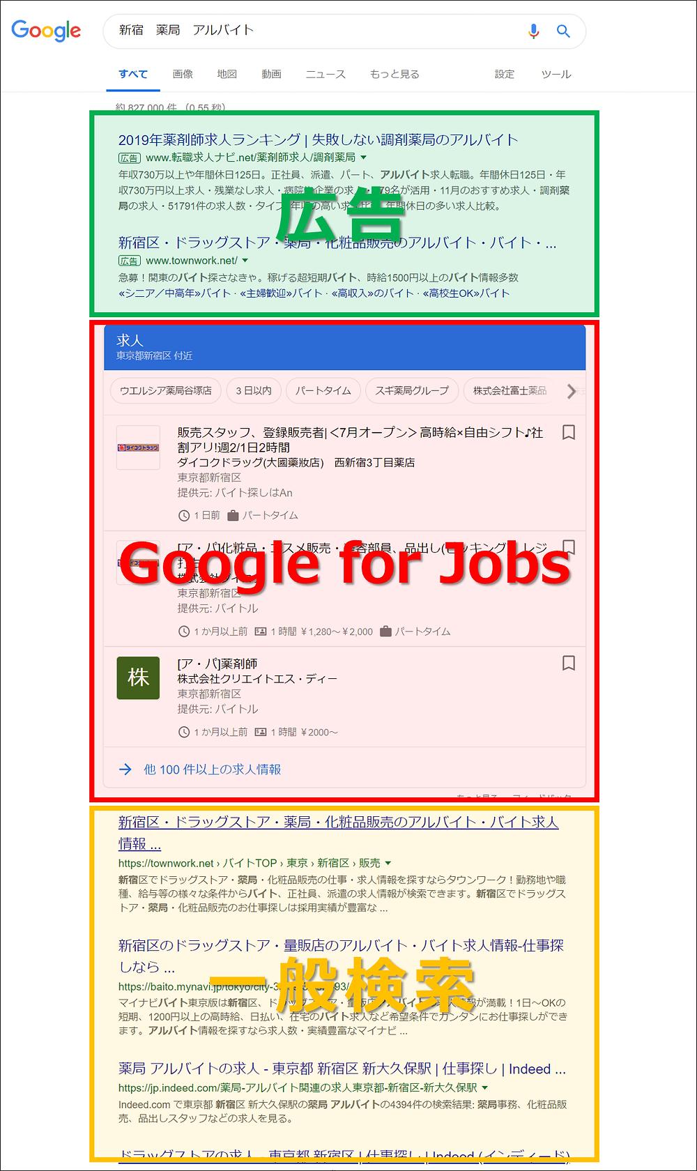 Googleしごと検索掲載イメージ