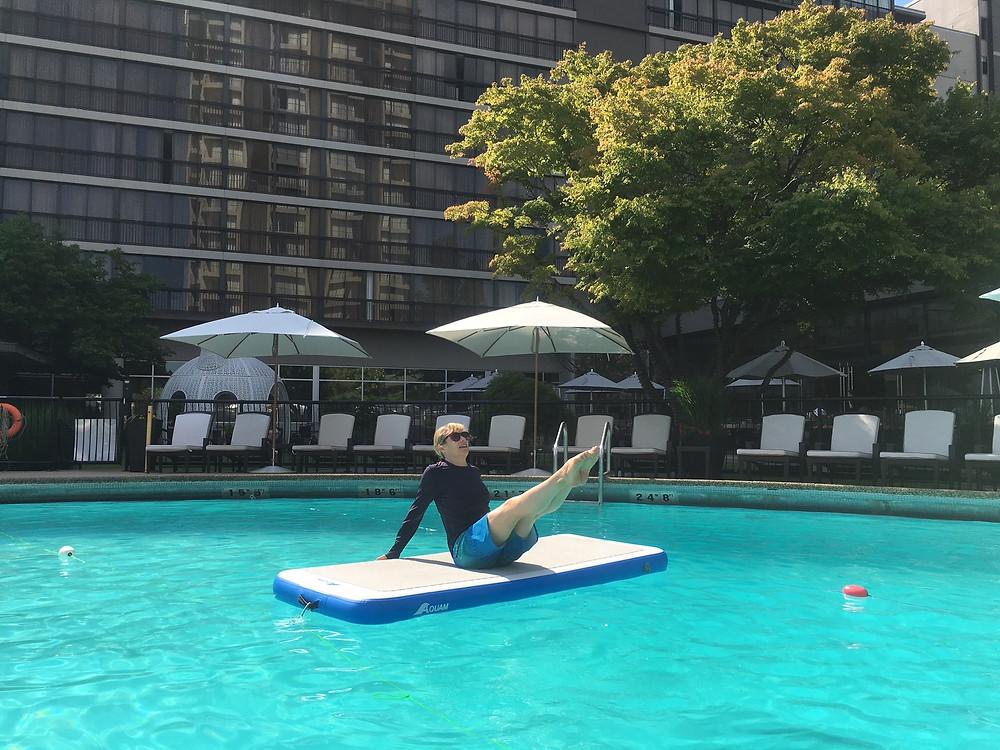 Mermaid kick at Liquid Fit.