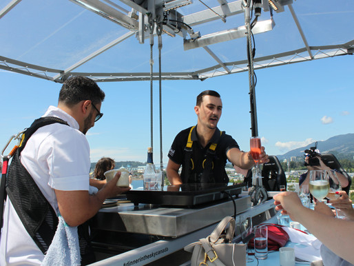 Dinner in the Sky: an elevated experience 130 feet off the ground