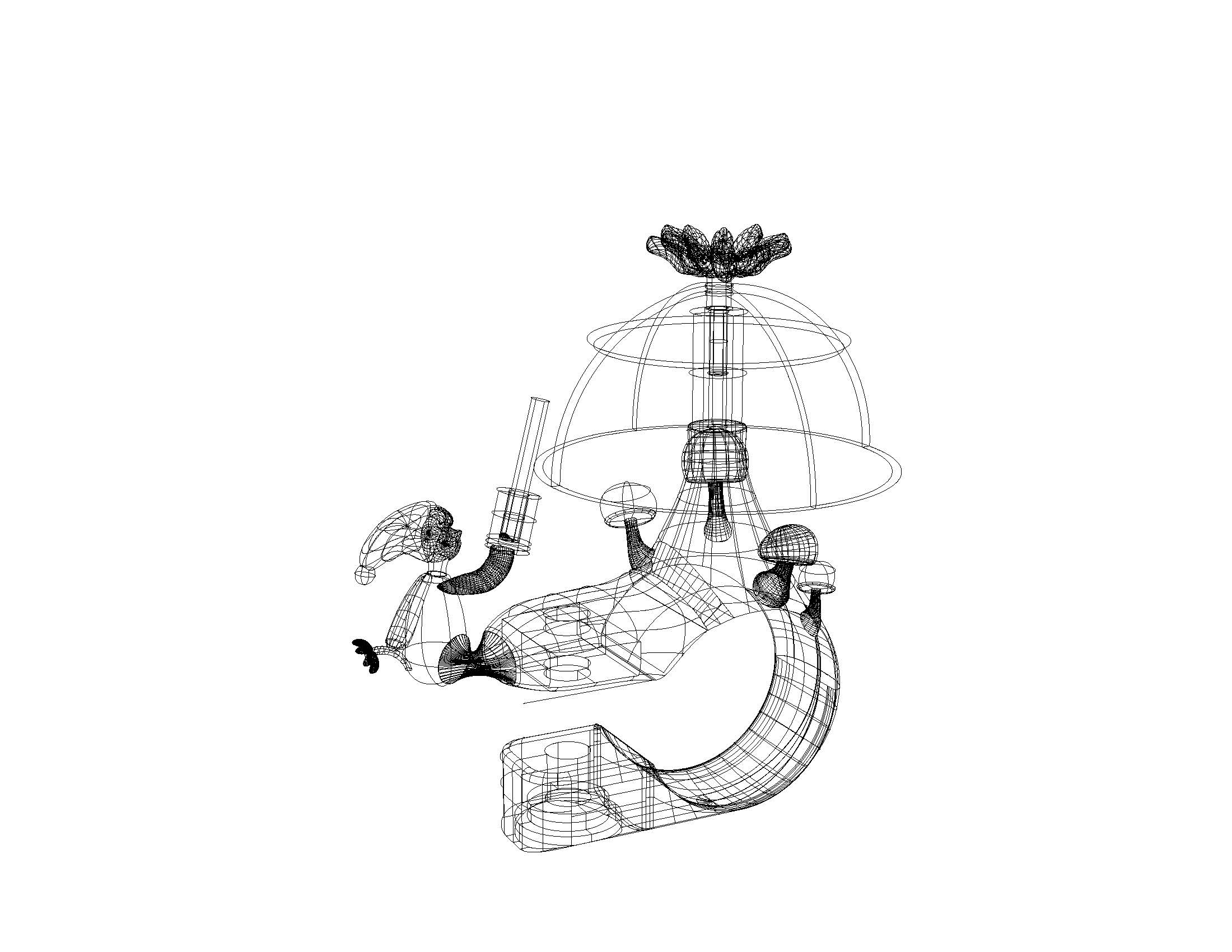 Project 2- Mushroom Bell- Technical Drawing- Perspective- no frame