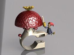 mushroom bell render 6