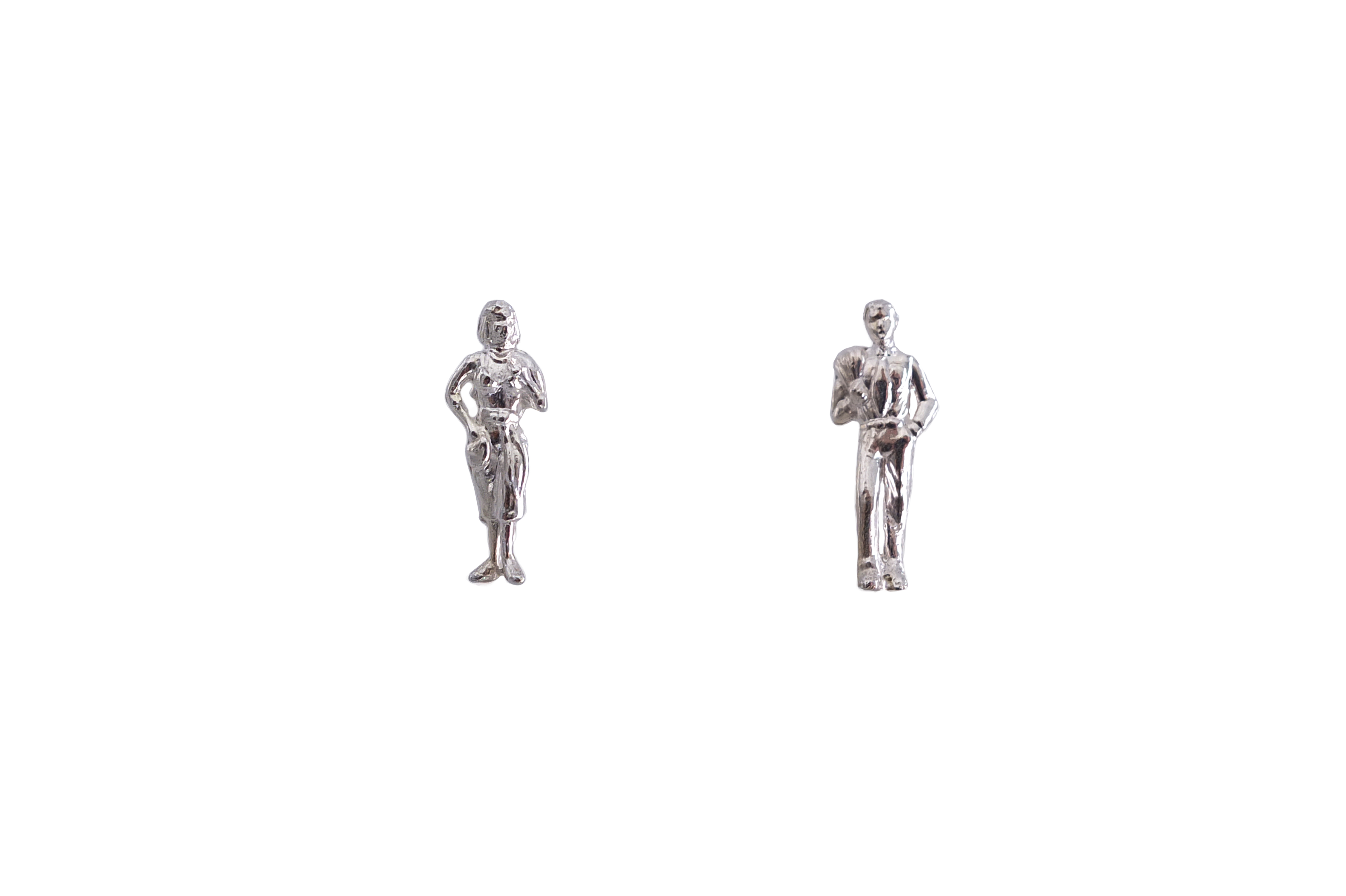 couple-stud-earring---silver