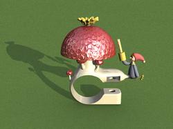 mushroom bell render 12