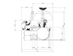 Project 2- Mushroom Bell- Technical Drawing- Front with Dimensions