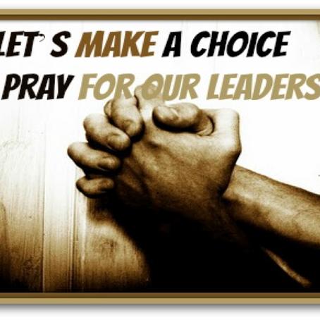 Praying for your Spiritual Leaders