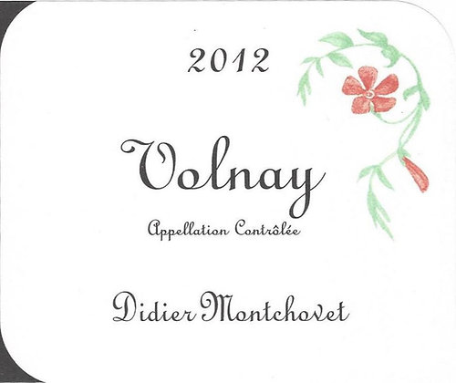 DIDIER MONTCHOVET Volnay 2013 Burgundy, France (red wine)