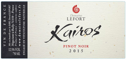 DOMAINE DAVID LEFORT Kairos Pinot Noir 2016 Burgundy, France (red wine)