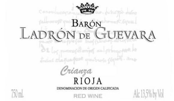 BODEGAS VALDELANA Baron Ladron de Guevara Crianza 2012 Rioja, Spain (red wine)