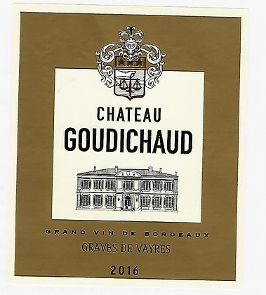 CHATEAU GOUDICHAUD Graves de Vayres White 2012 Bordeaux, France (white)