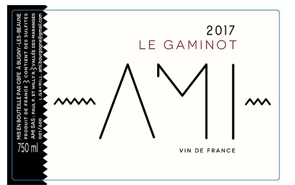 AMI Gaminot Vin de Table 2017 Burgundy, France (red wine)