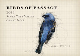 BIRDS OF PASSAGE Gamay Noir 2019 Santa Ynez Valley, CA (red)
