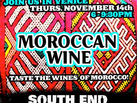 Moroccan Wine Tasting @ South End Nov. 14th