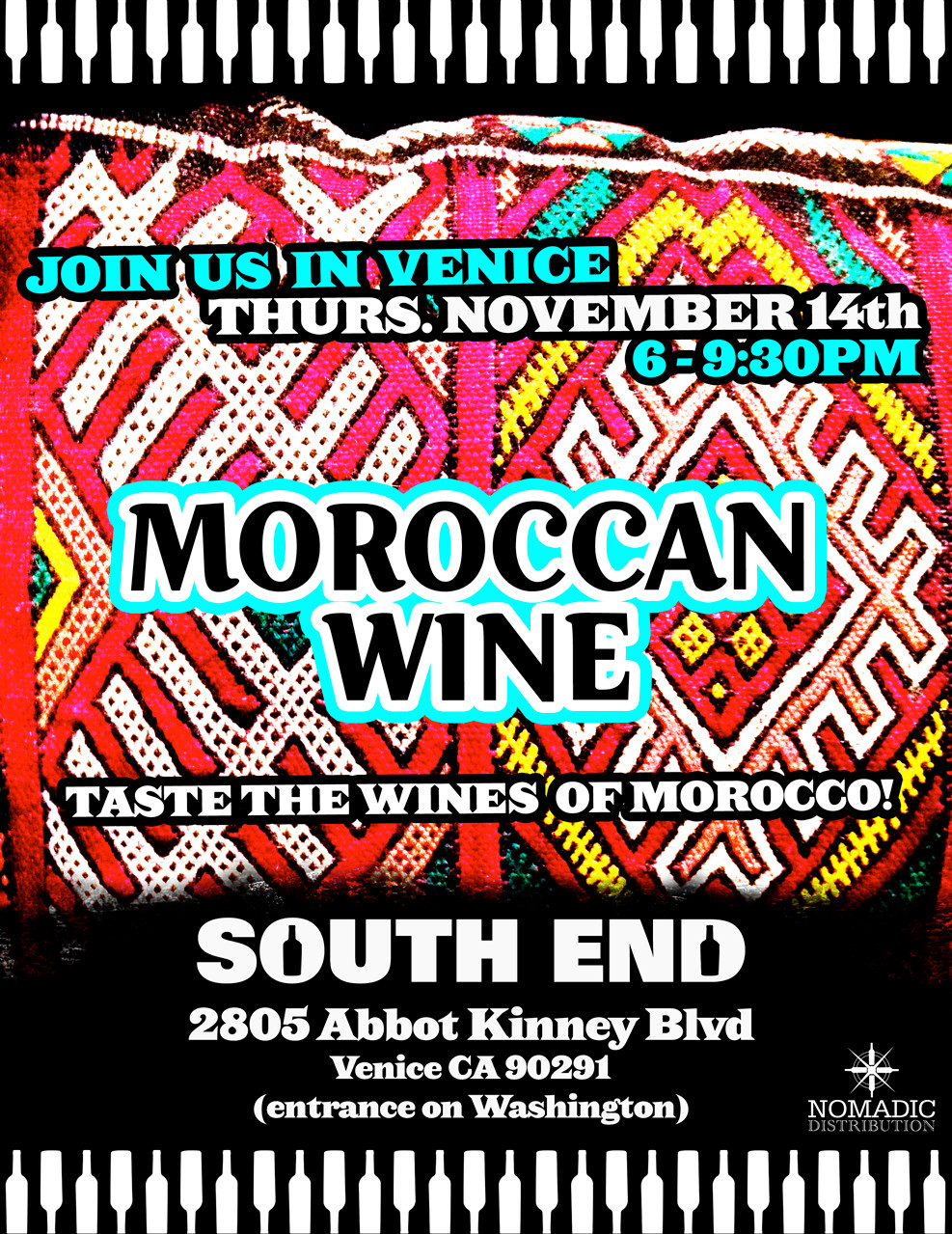 South End Moroccan wine tasting Nov14