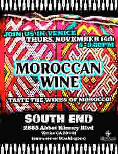 South End Moroccan wine tasting Nov14