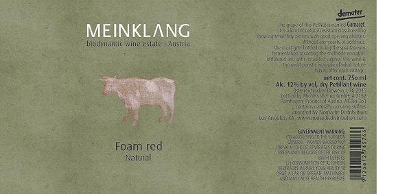 MEINKLANG Foam Red Petillant Naturel 2018 Burgenland, Austria (sparkling wine)