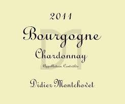DIDIER MONTCHOVET Bourgogne Chardonnay 2015 (white wine)