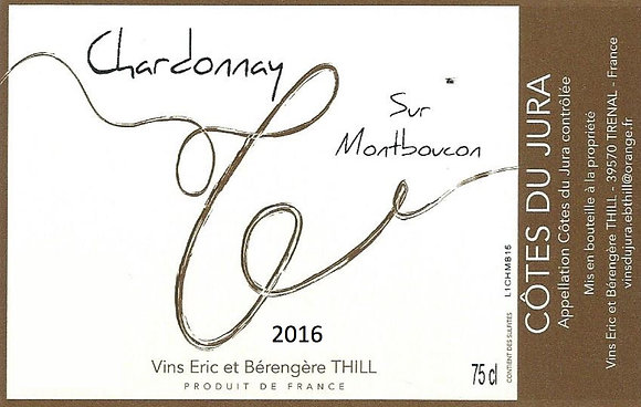 DOMAINE ERIC THILL Chardonnay sur Montboucon 2016 Jura, France (white)