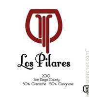 LOS PILARES Grenache 2017 San Diego, California (red wine)