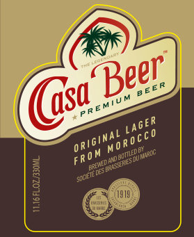 CASA BEER  lager, Morocco (Case 24x330ml)