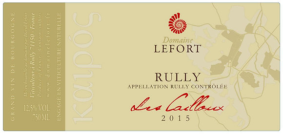 DOMAINE DAVID LEFORT Rully Rouge Les Cailloux 2016 Burgundy, France (red wine)