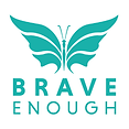 BRAVE ENOUGH LOGO WHITE STACKED TRANSPARENT.png