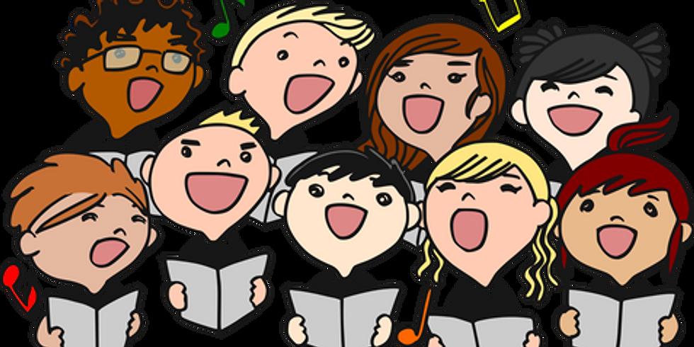 Elementary Chorus Sings at Winterfest