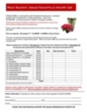 Annual MBA Poinsettia Sale 2019-2020 in
