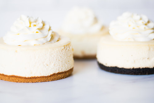4 Personal Cheesecakes Classic Flavors