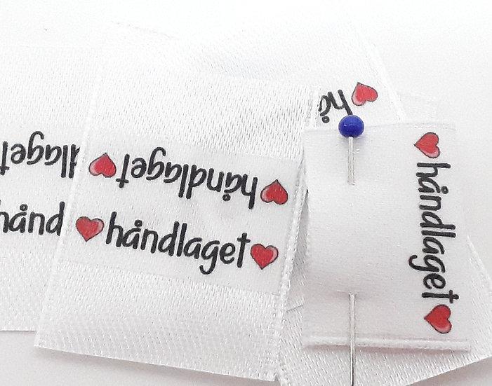 sidesøm label 'håndlaget', 10 stk