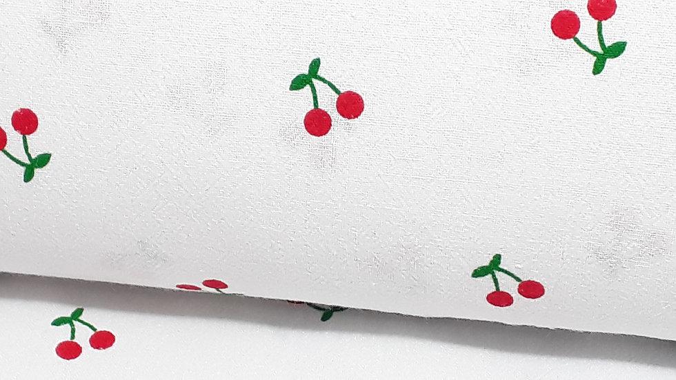bomullstoff kirsebær, stonewashed
