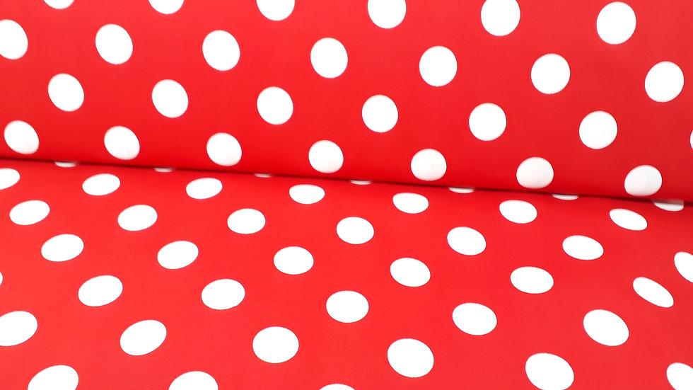 Sevenberry Petite Basics 2cm dots på rød, 0,5 meter