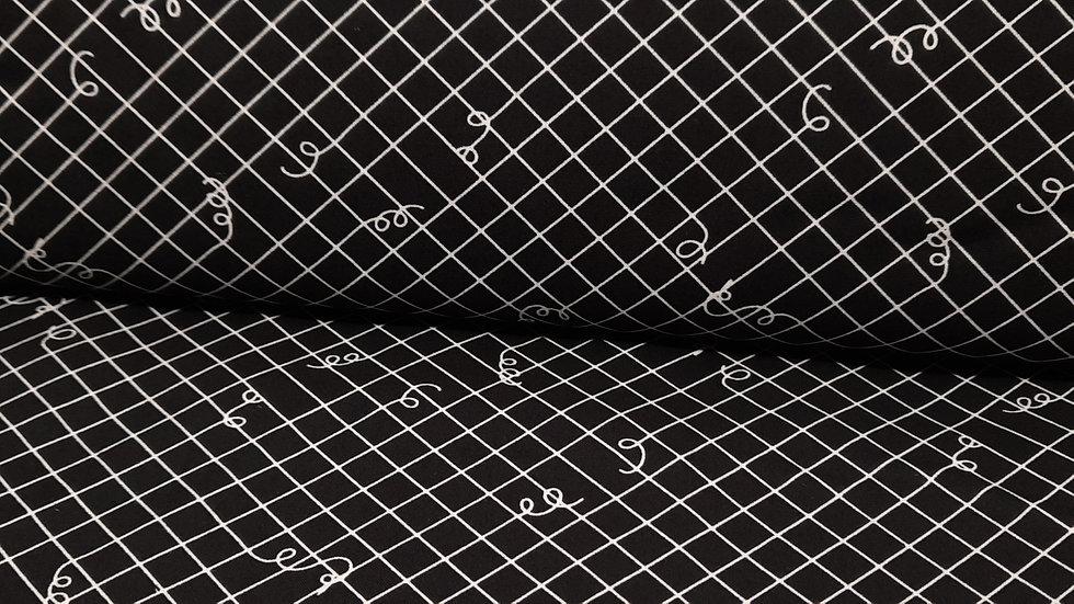Adorn Broken Ties Rashida Coleman-Hale, ruter med løse ender svart, 0,5 meter