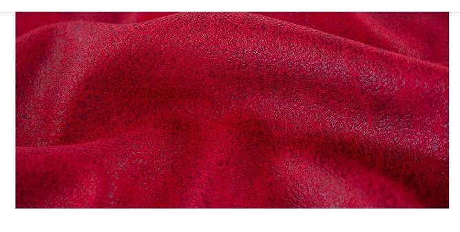 9 meter veldig myk og tynn lærimitasjon rød
