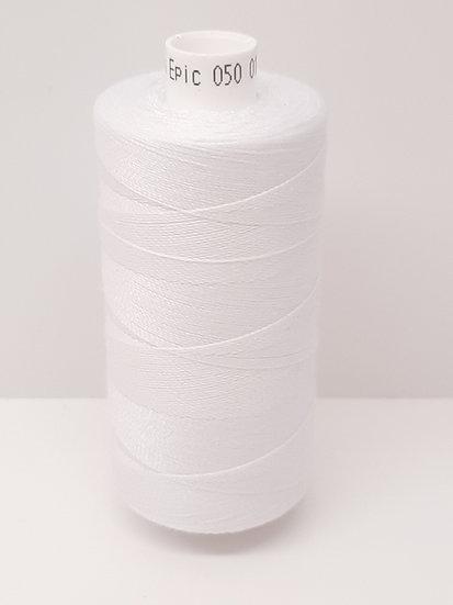 Coats Epic 50 sytråd  500m hvit