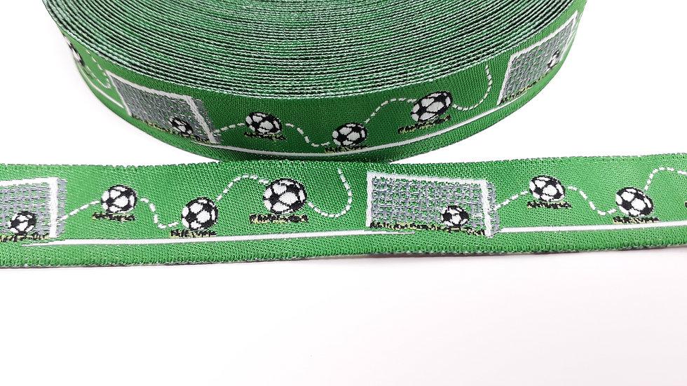 pyntebånd fotball til å sy på tekstiler, metervare