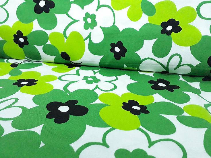 Hishiei Shoji blomster og sommerfugler i grønn svart, 0,5 meter