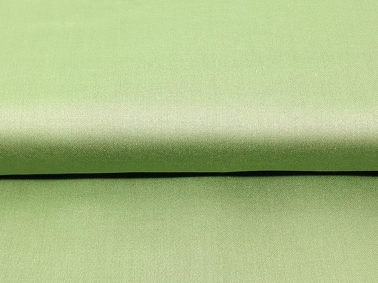 bomullstoff grønn silkeglans