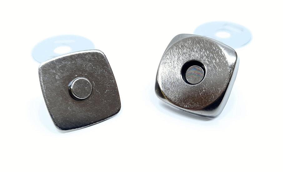 magnetlås 14mm gunmetall, sett med 4 deler