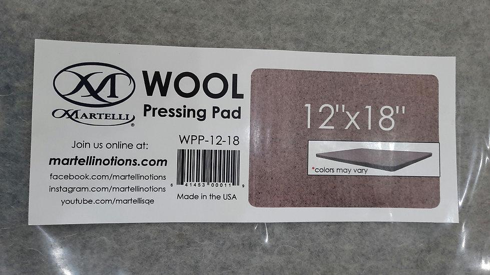 "Martelli Wool Pressing Pad, ullstrykematte 12"" x 18"""