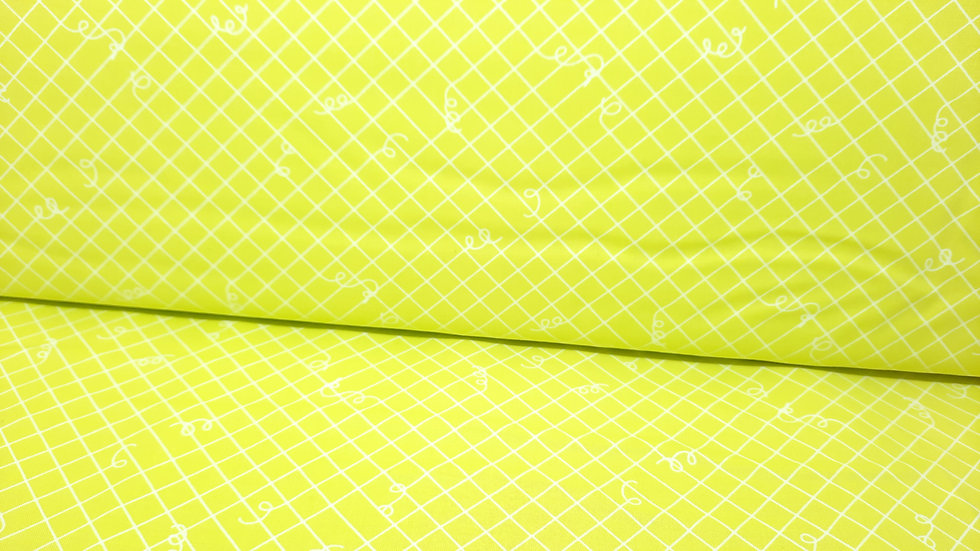 Adorn Broken Ties Rashida Coleman-Hale, ruter med løse ender sitrus, 0,5 meter