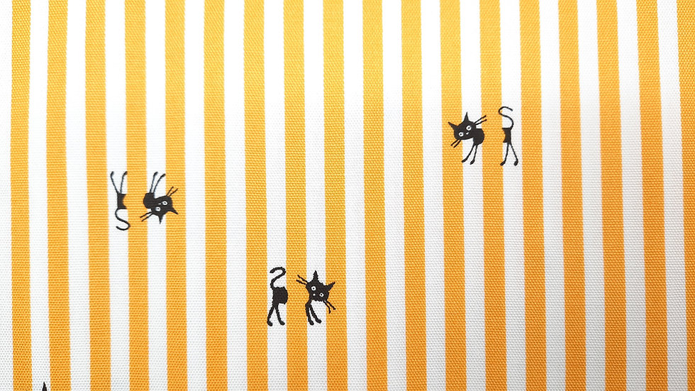 CoCoLand katter med striper gul/hvit, 0,5 meter