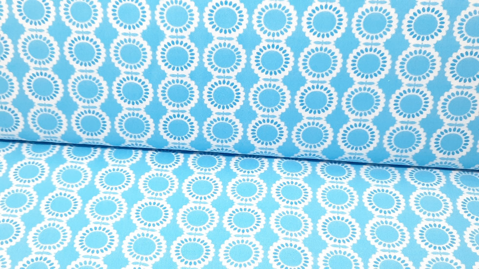 Weeds Me & My Sister Designs, blomster blå hvit, 0,5 meter