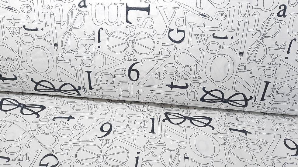 "108"" quilt back, Wordplay Sarah Fielke, 0,5 m"