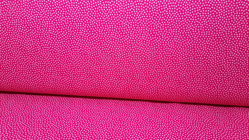 bomullstoff dots ton-i-ton pink